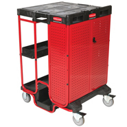 View: Rubbermaid 9T58 Ladder Cart with One Cabinet